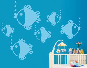 Wandtattoo Babyzimmer Fische No.UL433 Baby Fischchen Set
