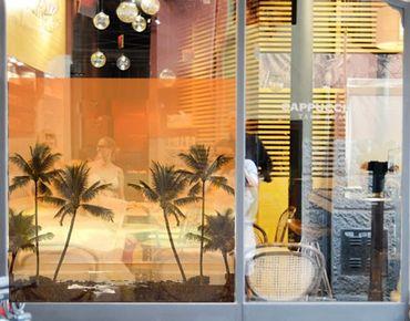 Fensterfolie - Sichtschutz Fenster Caribbean Sunset II - Fensterbilder