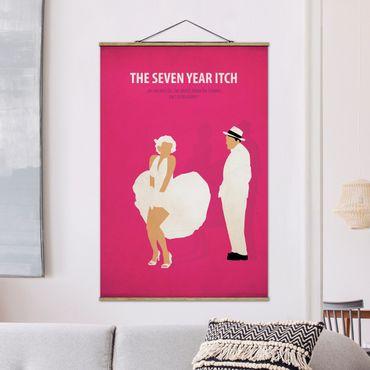 Stoffbild mit Posterleisten - Filmposter The seven year itch - Hochformat 3:2
