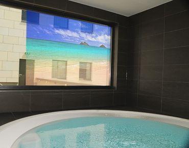 Fensterfolie - Sichtschutz Fenster Paradise Beach II - Fensterbilder