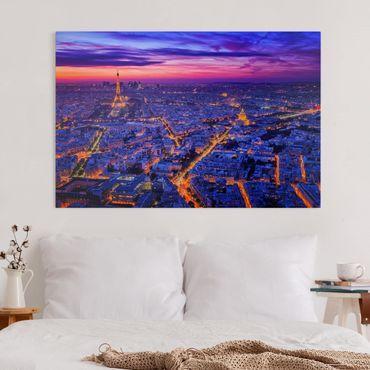 Leinwandbild - Paris bei Nacht - Querformat 2:3