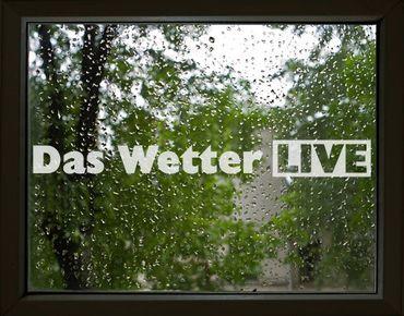 Fensterfolie - Fenstertattoo No.UL464 Das Wetter Live - Milchglasfolie