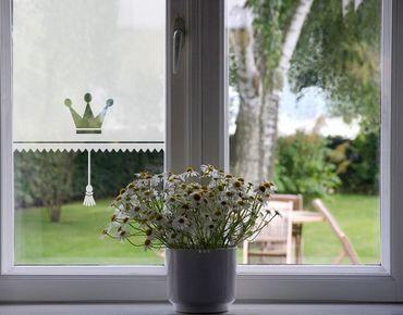 Fensterfolie - Sichtschutzfolie No.UL465 Königliches Rollo - Milchglasfolie