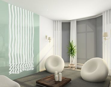 Fensterfolie - Sichtschutzfolie No.UL468 Raffrollo Streifen - Milchglasfolie