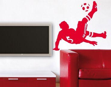 Wandtattoo Fußball - Kinderzimmer No.UL482 Fußball Fallrückzieher