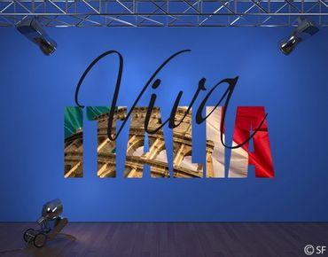 Wandtattoo Sprüche - Wandworte No.SF798 Viva Italia