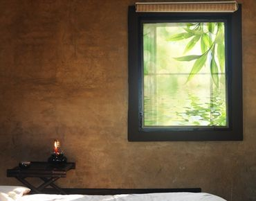 Fensterfolie - Sichtschutz Fenster - Green Ambiance I - Fensterbilder Frühling