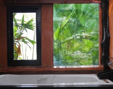 Fensterfolie - Sichtschutz Fenster - Green Ambiance II - Fensterbilder Frühling