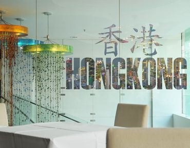 Fensterfolie - Fenstersticker No.TM138 Hong Kong - Fensterbilder
