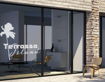 Fensterfolie - Fenstertattoo No.UL507 Terrassa Island - Milchglasfolie