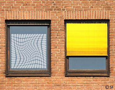 Fensterfolie - Sichtschutzfolie No.SF809 Op-Art - Milchglasfolie