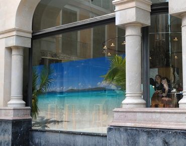 Fensterfolie - Sichtschutz Fenster Perfect Maledives - Fensterbilder