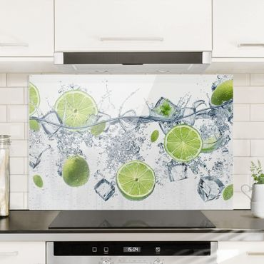 Spritzschutz Glas - Erfrischende Limette - Querformat - 3:2