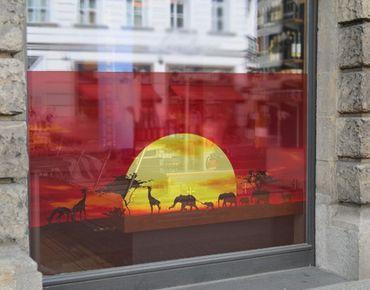 Fensterfolie - Sichtschutz Fenster No.CG80 Sunset Caravan - Fensterbilder