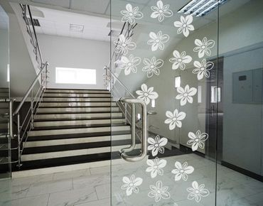 Fensterfolie - Fenstertattoo No.UL510 Streublümchen - Milchglasfolie