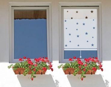 Fensterfolie - Sichtschutzfolie No.UL466 Sternenhimmel Rollo - Milchglasfolie
