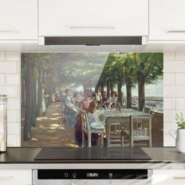 Spritzschutz Glas - Max Liebermann - Terrasse des Restaurants Jacob - Querformat 2:3