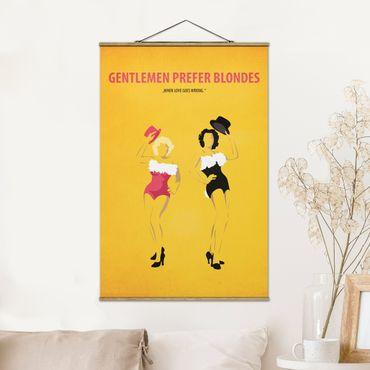 Stoffbild mit Posterleisten - Filmposter Gentlemen prefer blondes - Hochformat 2:3