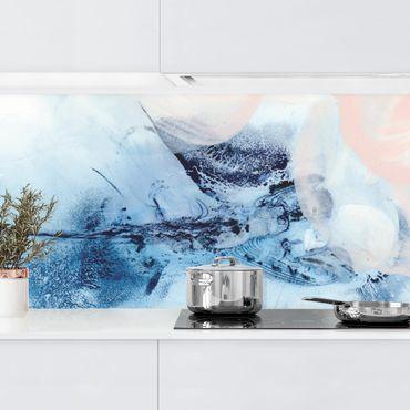 Küchenrückwand - Indigo & Rouge III