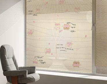 Fensterfolie - Sichtschutz Fenster Flight Owl - Fensterbilder
