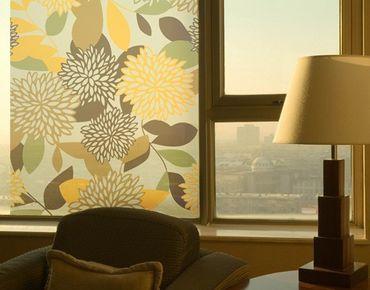 Fensterfolie - Sichtschutz Fenster Vintage Flowers - Fensterbilder