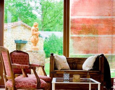 Fensterfolie - Sichtschutz Fenster Colour Harmony Red - Fensterbilder