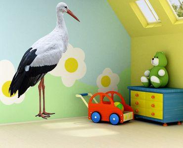Wandtattoo Vögel No.346 Weißer Storch
