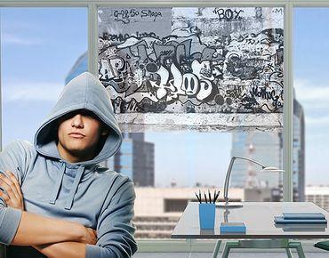Fensterfolie - Sichtschutz Fenster Graffiti Art - Fensterbilder