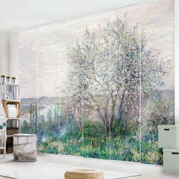 Schiebegardinen Set - Claude Monet - Frühlingsstimmung bei Vétheuil - Flächenvorhänge