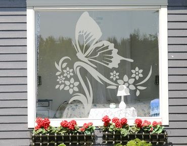 Fensterfolie - Fenstertattoo - Fensterdeko - No.9 Schmetterling - Fensterbilder Frühling