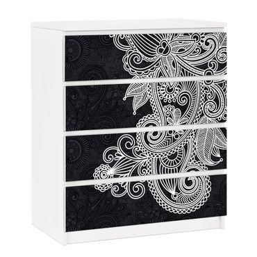 Möbelfolie für IKEA Malm Kommode - selbstklebende Folie Gothic Ornament