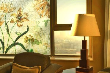 Fensterfolie - Sichtschutz Fenster Vintage Grasses - Fensterbilder