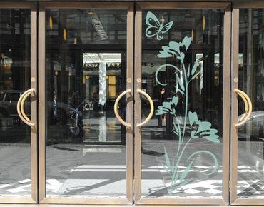 Fensterfolie - Fenstertattoo - Fensterdeko - No.80 Blümchen - Fensterbilder Frühling