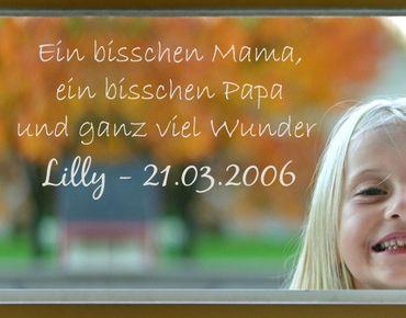 Fensterfolie - Fenstertattoo No.496 Wunschtext Kleines Wunder - Milchglasfolie