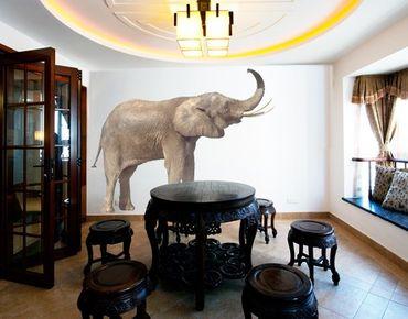 Wandtattoo Elefant No.284 Trompetender Elefant I