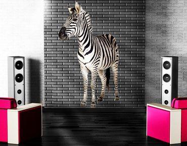 Wandtattoo Tiere No.293 Lächelndes Zebra