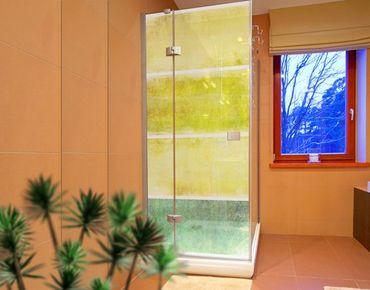 Fensterfolie - XXL Fensterbild Colour Harmony Yellow - Fenster Sichtschutz