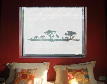 Fensterfolie - Sichtschutzfolie No.TM13 Safari II II - Milchglasfolie