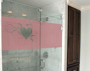 Fensterfolie - Sichtschutzfolie No.334 Herzen I - Milchglasfolie