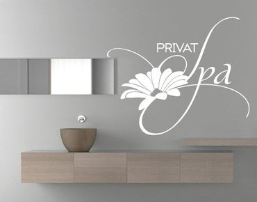 Wandtattoo Sprüche - Wandworte No.UL600 Privat Spa