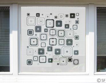 Fensterfolie - Sichtschutzfolie No.SF937 Retro Squares - Milchglasfolie