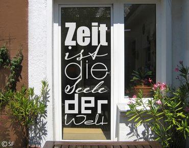 Fensterfolie - Fenstertattoo No.SF945 Zeit - Milchglasfolie
