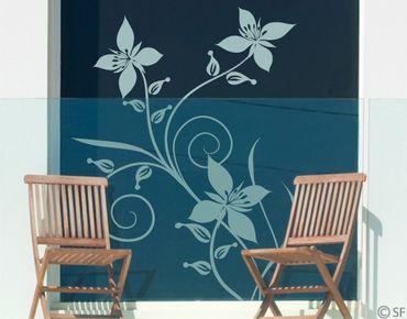 Fensterfolie - Fenstertattoo - Fensterdeko - No.SF960 Blütenzauber - Fensterbilder Frühling