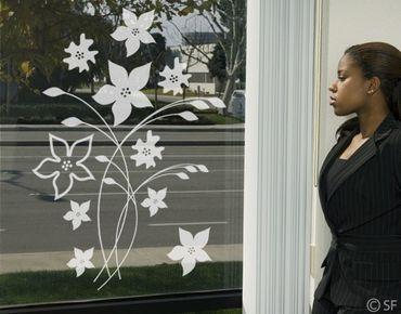 Fensterfolie - Fenstertattoo - Fensterdeko - No.SF961 Blumenpracht - Fensterbilder Frühling