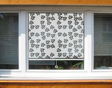 Fensterfolie - Sichtschutzfolie No.UL7 Streublümchen Rollo II - Milchglasfolie