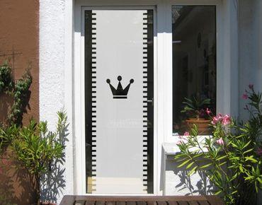 Fensterfolie - Sichtschutzfolie No.UL12 Gardine Krone II - Milchglasfolie