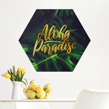 Hexagon Bild Alu-Dibond - Dschungel - Aloha Paradise