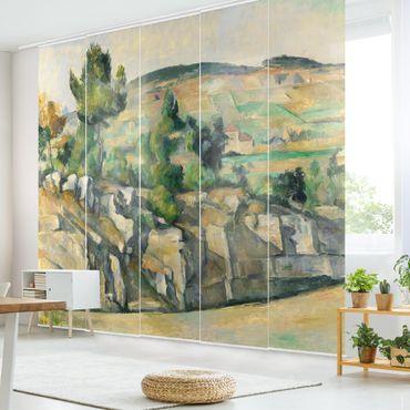 Schiebegardinen Set - Paul Cézanne - Hügelige Landschaft in der Provence - Flächenvorhänge
