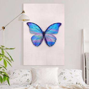 Leinwandbild - Jonas Loose - Holografischer Schmetterling - Hochformat 3:2