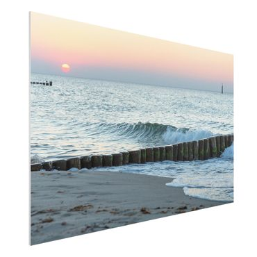 Forex Fine Art Print - Sonnenuntergang am Meer - Querformat 2:3